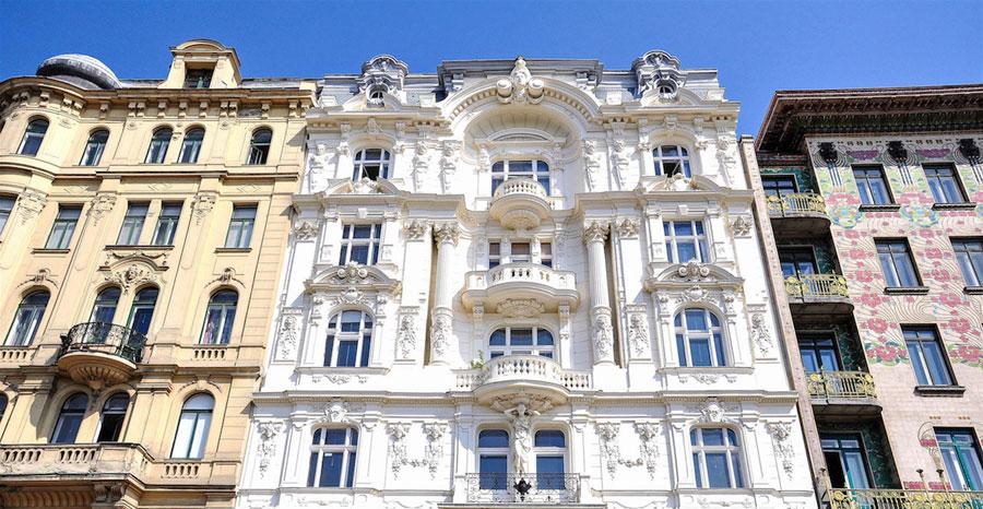 Prachtvolles Denkmal: Haus mit Jugendstil-Elementen